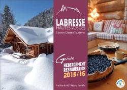 Guide Hébergement et Restauration 2015/2016