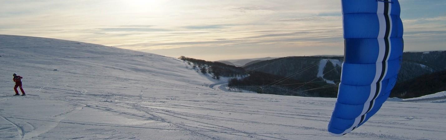 La Bresse Hautes-Vosges snowkite