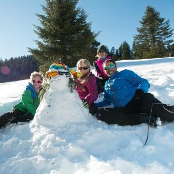 La Bresse en famille Hautes Vosges hiver