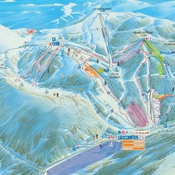 Pläne der Skigebiete