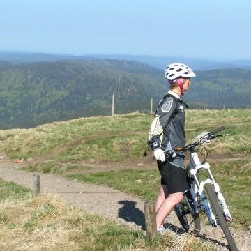 Mountain-Bike mit Profis