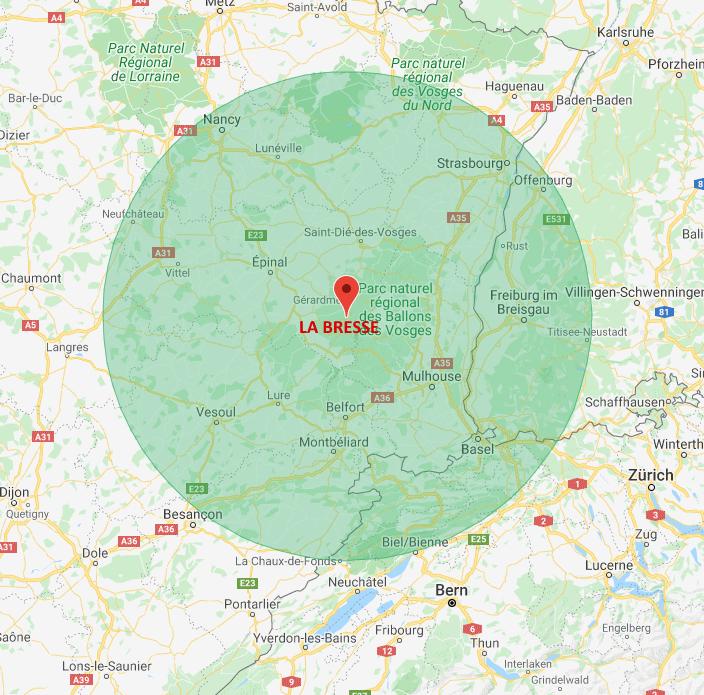 A 100 km de La Bresse Hautes-Vosges