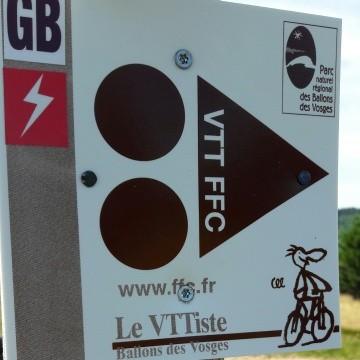 Circuits balisés VTT à assistance electrique E BIKE La Bresse Hautes-Vosges