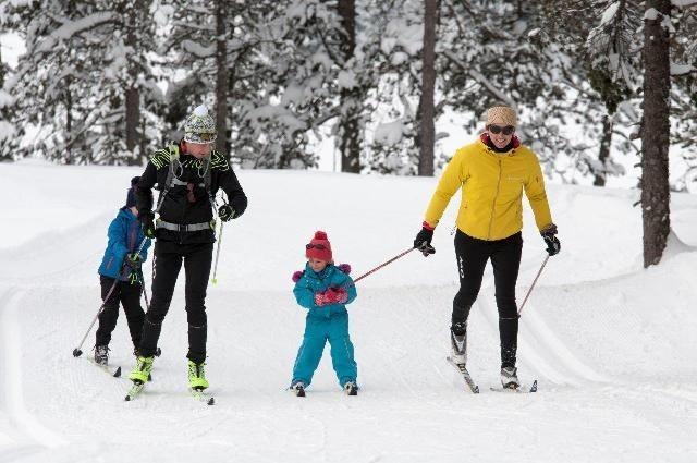 Famille en ski de fond La Bresse