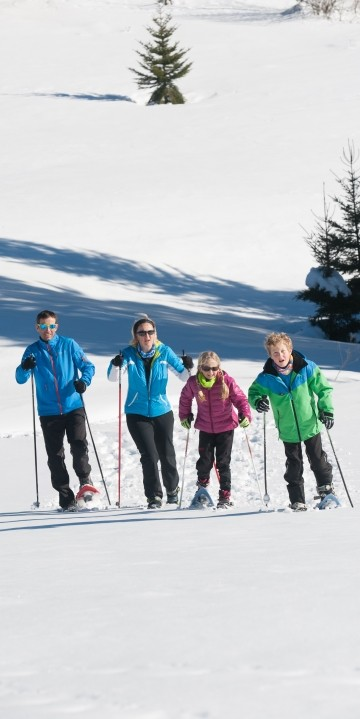 Famille raquette La Bresse hautes Vosges ©Michel Laurent