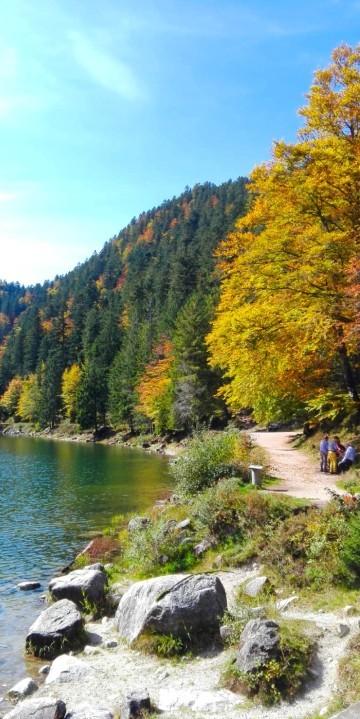 La Bresse Hautes-Vosges Lac des Corbeaux Automne