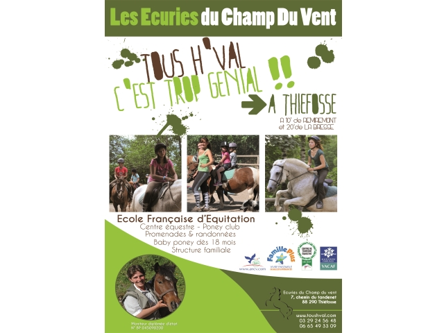 More information + - RIDING SCHOOL LES ECURIES DU CHAMP DU VENT