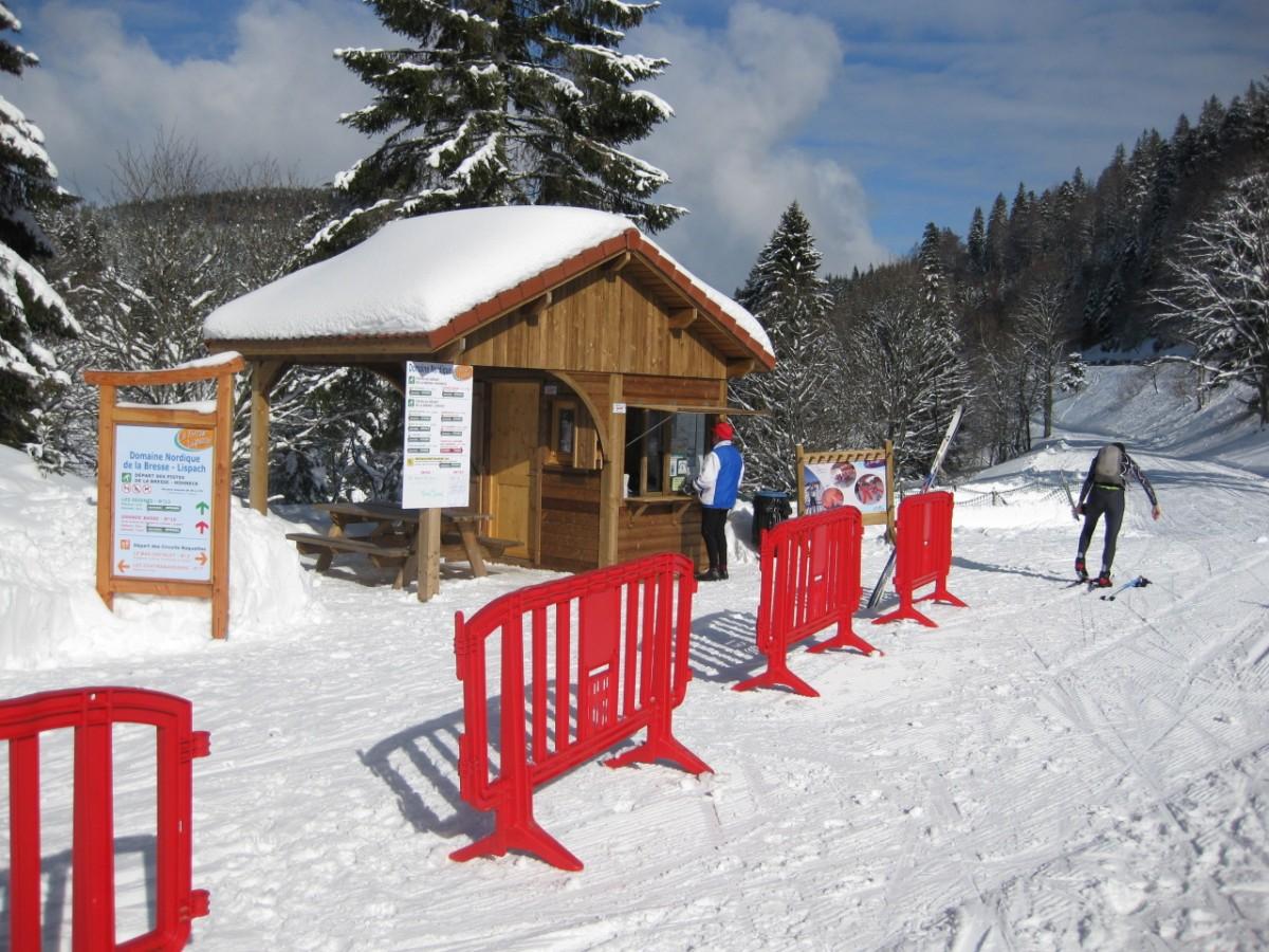 piste piétons raquettes des feignes sous vologne La Bresse Hautes-Vosges