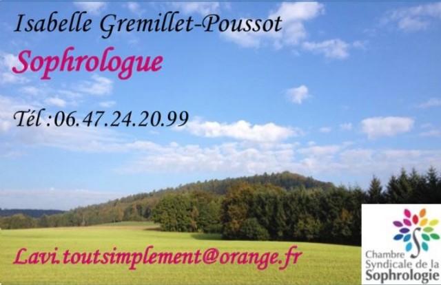 GREMILLET POUSSOT Isabelle Sophrologue