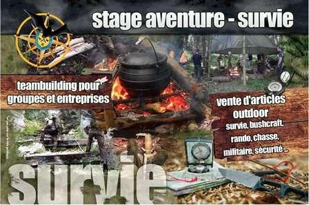Stage aventure survie Commanderie de Menemont Vosges