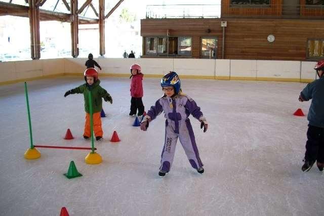 jardin des glaces à la patinoire de La Bresse