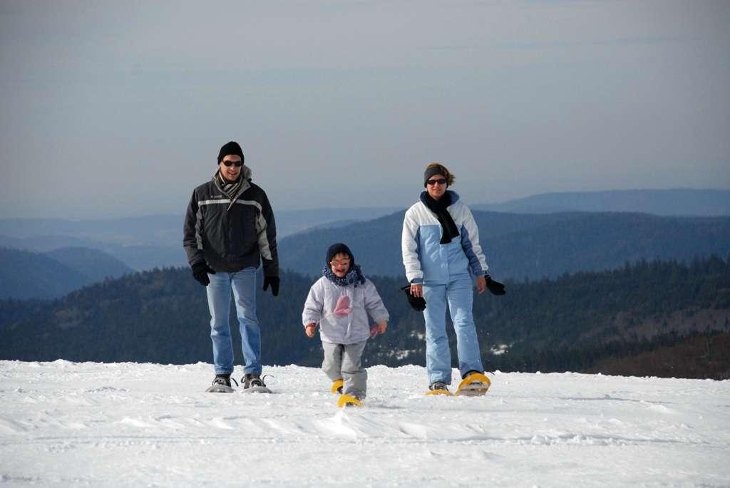 Raquettes en famille Vosges